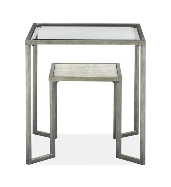Magnussen Home Bendishaw Coventry Grey Zinc Rectangular End Table MG-T4985-03