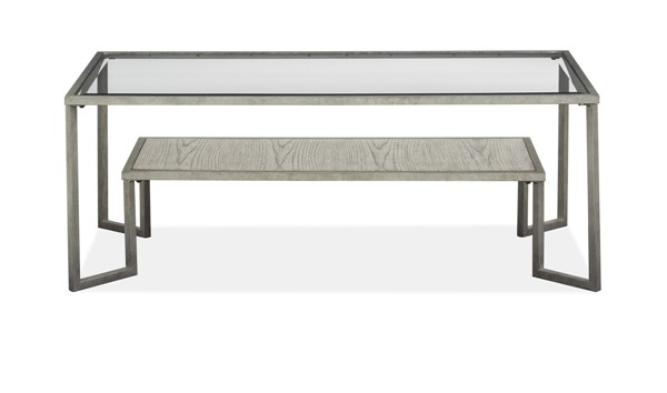 Magnussen Home Bendishaw Coventry Grey Zinc Rectangular Cocktail Table MG-T4985-43