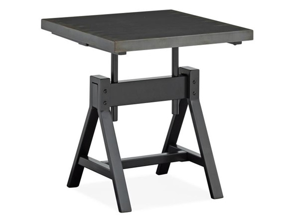 Magnussen Home Hartley Tarnished Iron Carbon Square End Table MG-T4989-01