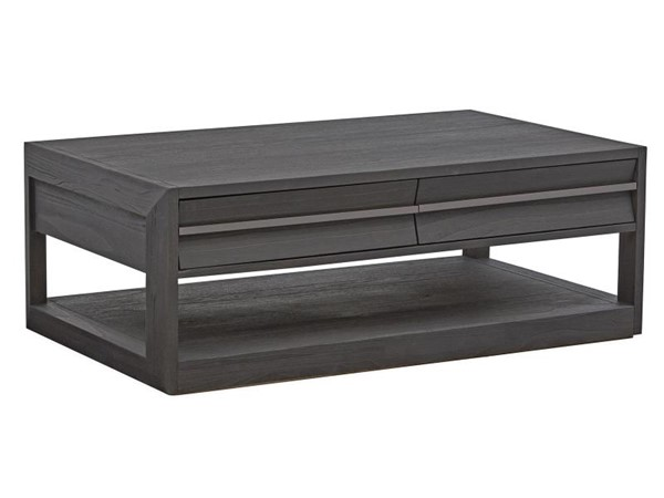 Magnussen Home Wentworth Village Sandblasted Oxford Black Rectangle Cocktail Table MG-T4995-43