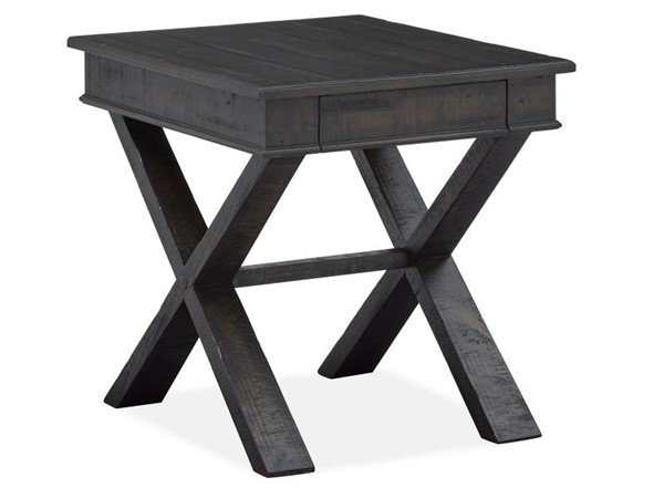 Magnussen Home Stepford Smokehouse Rectangular End Table MG-T5060-03