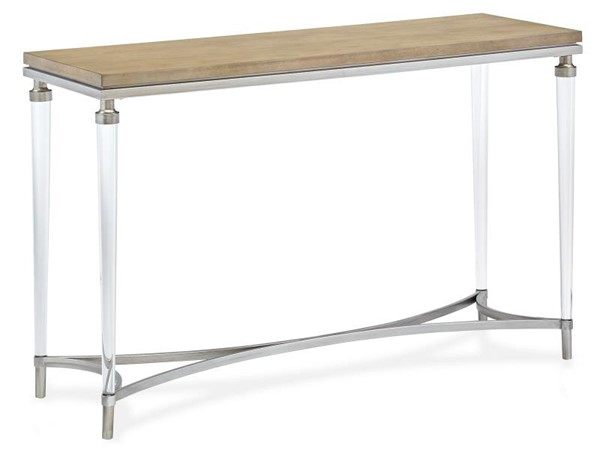 Magnussen Home Pascal Light Ash Brushed Silver Rectangular Sofa Table MG-T5077-73