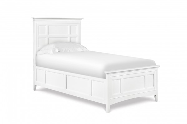 Kenley Cottage White Wood Full Panel Bed MG-Y1875-64