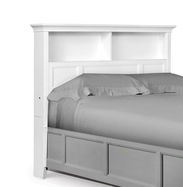 Magnussen Home Kenley White Bookcase Headboard MG-Y1875-58H-68H-VAR