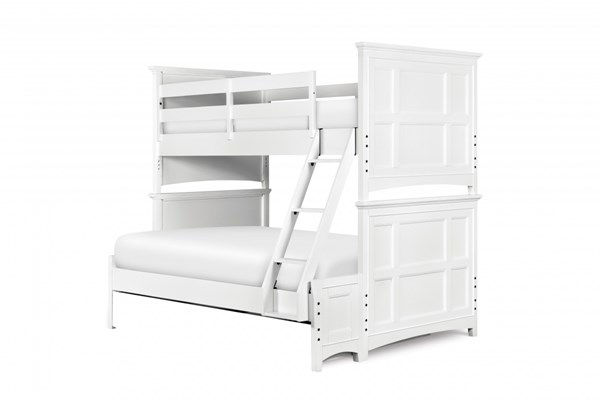 Kenley Cottage White Wood Bunk Bed - Twin Over Full MG-Y1875-71
