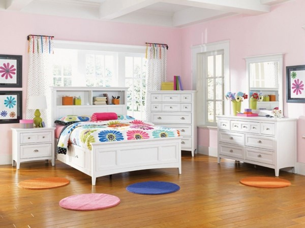 Kenley Wood 4pc Bedroom Set W/Twin Bookcase & One Side Drawer Bed MG-Y1875-S2