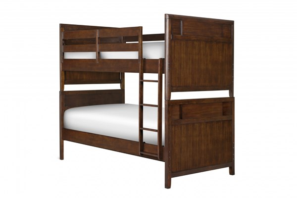 Twilight Modern Chestnut Wood Bunk Headboard & Footboard(2 sets/ctn) MG-Y1876-70H