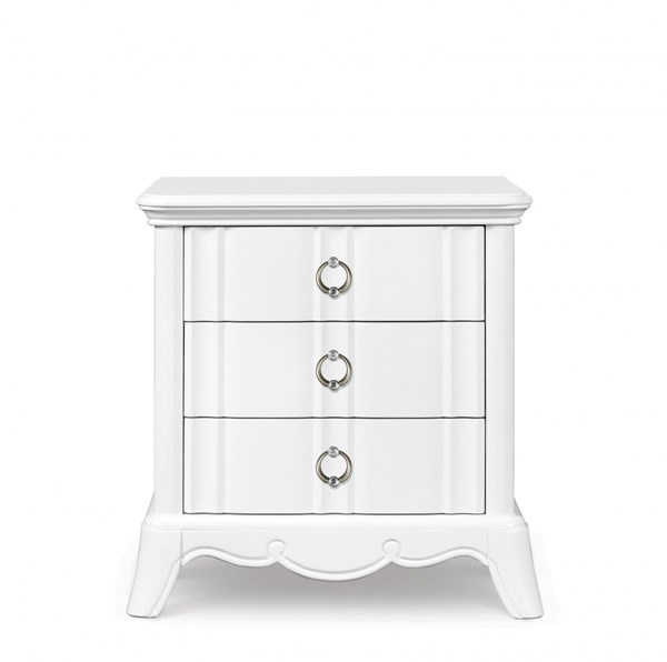 Gabrielle Traditional Snow White Wood Drawer Nightstand MG-Y2194-01