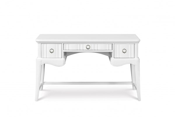 Gabrielle Traditional Snow White 3 Drawer W/Drop Down Front Wood Desk MG-Y2194-30