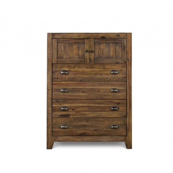 Braxton Transitional Distressed Natural Wood Drawer Chest MG-Y2377-10