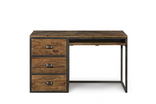 Braxton Transitional Distressed Natural Wood Desk MG-Y2377-30