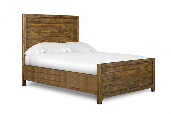 Braxton Transitional Distressed Natural Wood Full Panel Bed MG-Y2377-64