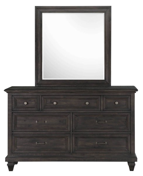Magnussen Home Calistoga Charcoal Drawer Dresser and Mirror MG-Y2590-DRMR