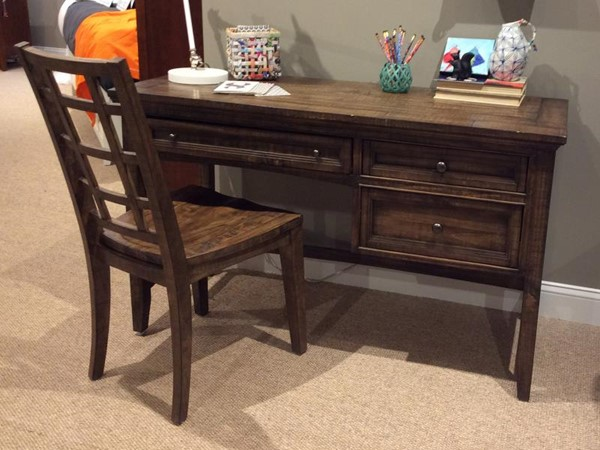 Bay creek casual toasted nutmeg pine solid wood office