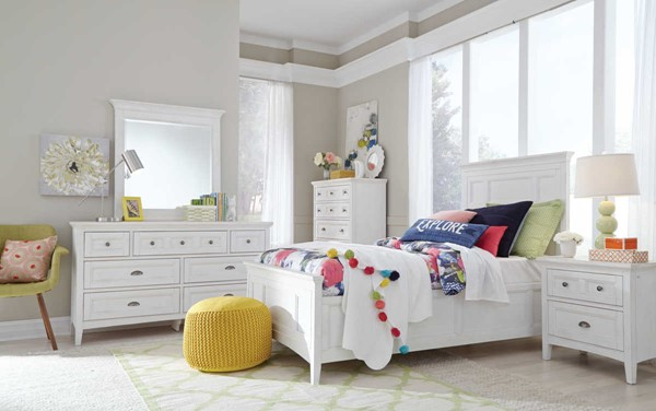 Heron Cove Chalk White Pine Solid Wood Kids Bedroom Set The Classy Home