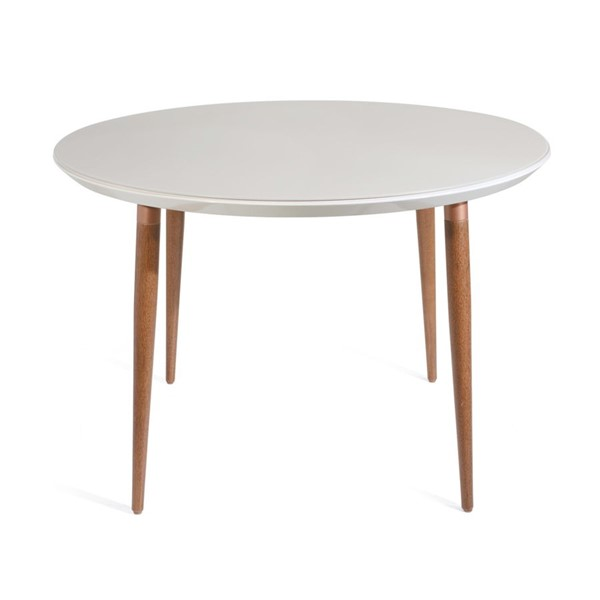 Manhattan Comfort Utopia Off White Solid Wood Round Dining Table MHC-1015052