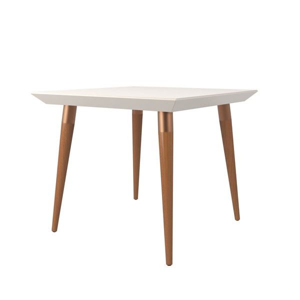 Manhattan Comfort Utopia Off White 35.43 Inch Square Dining Table MHC-107252