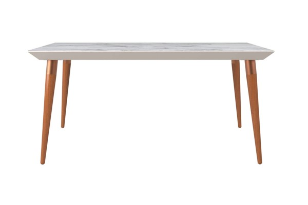 Manhattan Comfort Utopia Off White 62.99 Inch Rectangle Dining Table MHC-107452