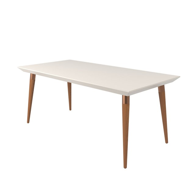 Manhattan Comfort Utopia Off White 70.86 Inch Rectangle Dining Table MHC-107552