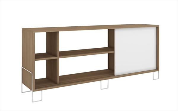 Manhattan Comfort Nacka Oak White TV Stand 2.0 MHC-10AMC47