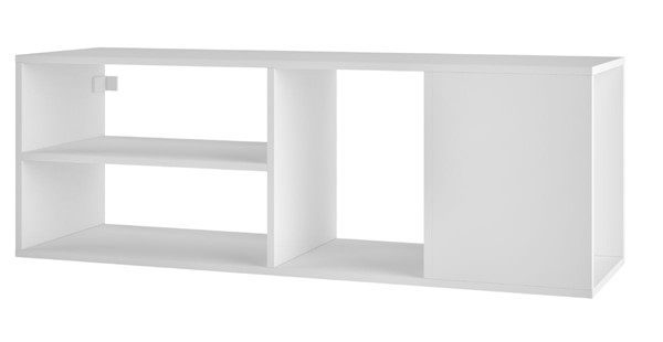 Manhattan Comfort Minetta White 46 Inch Floating TV Stand MHC-127AMC6