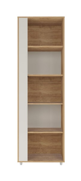 Manhattan Comfort Cypress Nature Off White 5 Shelves Bookcase MHC-12LC4