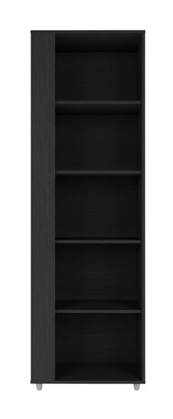 Manhattan Comfort Cypress Black 5 Shelves Bookcase MHC-12LC5