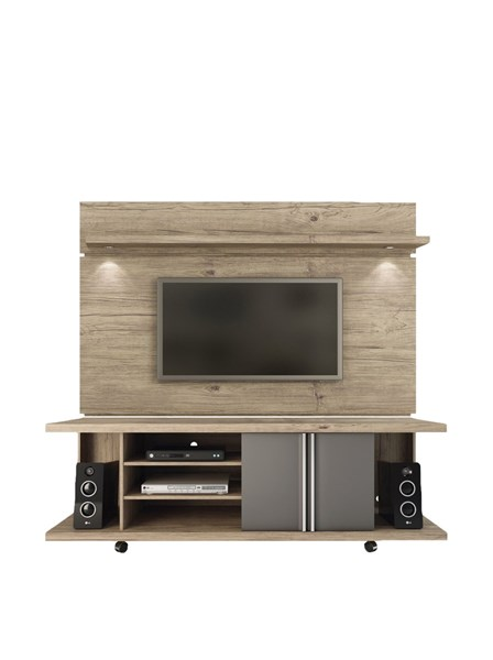 Carnegie Nature Metalic Onyx MDF TV Stand w/Park 1.8 Panel & Led Light MHC-14568-81461-ENT-S1