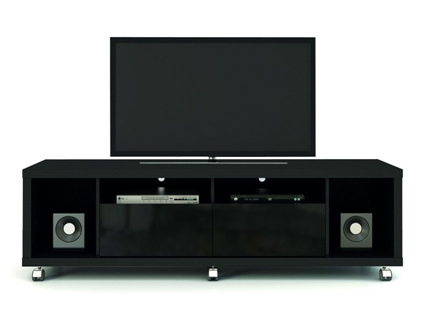 Manhattan Comfort Cabrini Black 4 Shelves TV Stand 1.8 MHC-15413