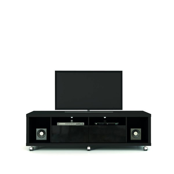 Manhattan Comfort Cabrini Black 4 Shelf TV Stand MHC-15413