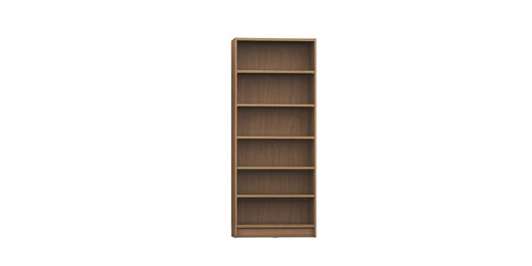 Manhattan Comfort Greenwich 1.0 6 Shelf Wide Trente Bookcases MHC-16015-BK-VAR