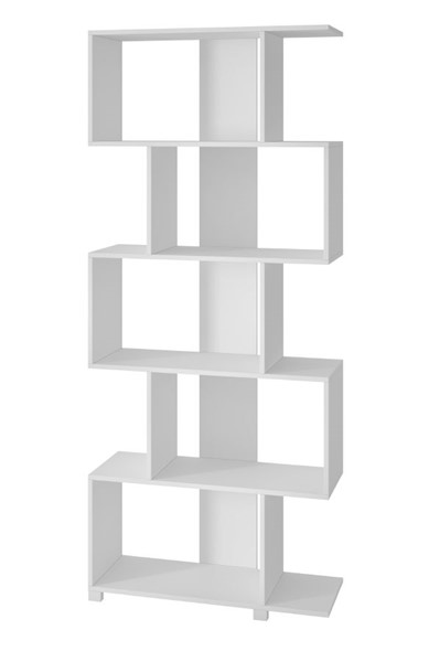 Manhattan Comfort Petrolina White 5 Shelves Z Bookcase MHC-18AMC6