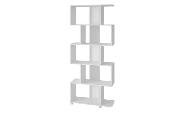 Manhattan Comfort Petrolina White Melamine 5 Shelves Z Bookcase MHC-18AMC6