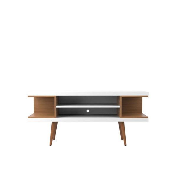 Manhattan Comfort Utopia White Maple 4 Shelves TV Stand MHC-19652