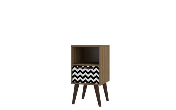 Manhattan Comfort Abisko Oak 2.0 Side Tables MHC-1AMC-ENT-VAR