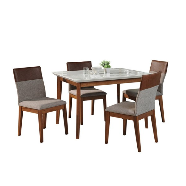 Manhattan Comfort Lillian Duke 45.66 Inch 5pc Dining Sets MHC-2-1011851101135-DR-S-VAR