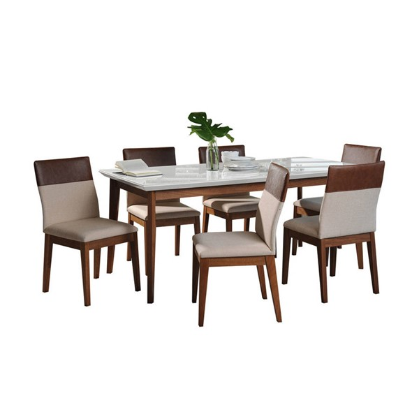 Manhattan Comfort Lillian Duke 62.99 Inch 7pc Dining Sets MHC-2-1011951101135-DR-S-VAR