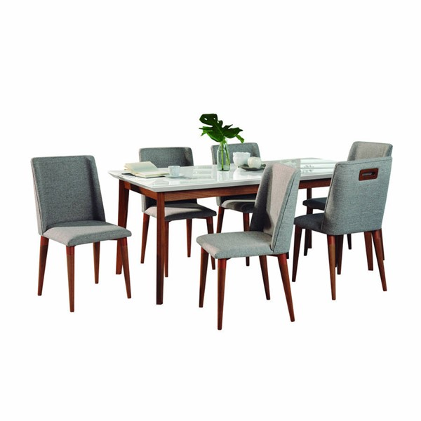 Manhattan Comfort Lillian Tampa 62.99 Inch 7pc Dining Sets MHC-2-1011951101165-DR-S-VAR