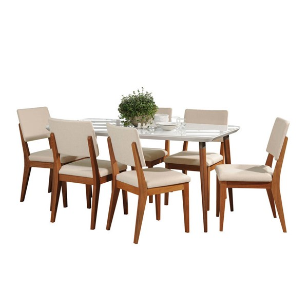 Manhattan Comfort Charles Dover 62.99 Inch 7pc Dining Sets MHC-2-101275110935-DR-S-VAR
