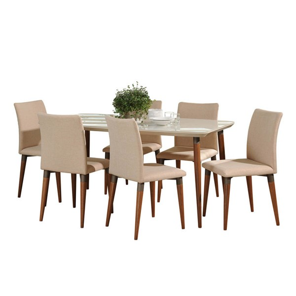 Manhattan Comfort Charles 62.99 Inch 7pc Dining Sets MHC-2-1012752101145-DR-S-VAR