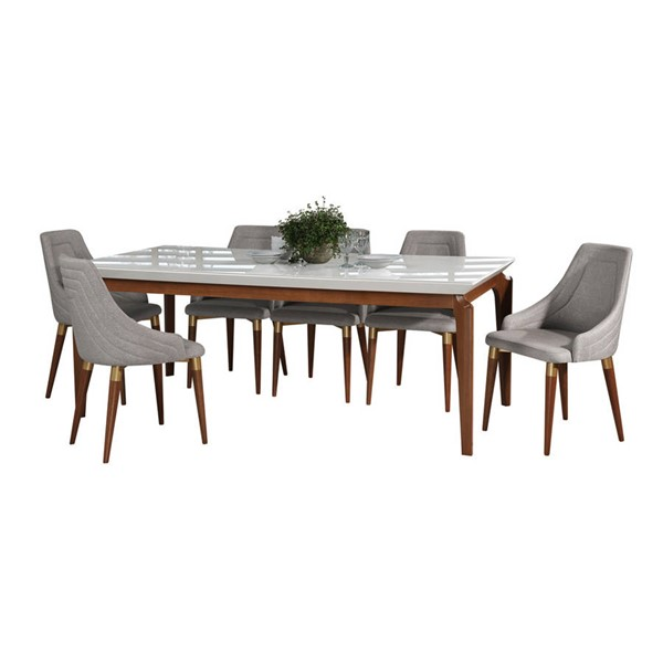 Manhattan Comfort Payson Utopia 2.0 82.67 Inch 7pc Dining Sets MHC-2-1014151101335-DR-S-VAR