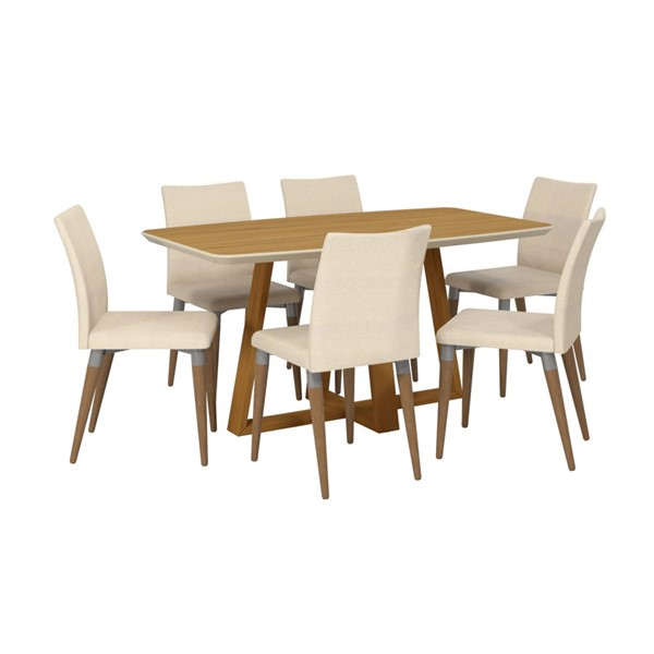Manhattan Comfort Duffy and Charles MDF 7pc Rectangle Dining Room Sets MHC-2-10184511011-DR-S-VAR