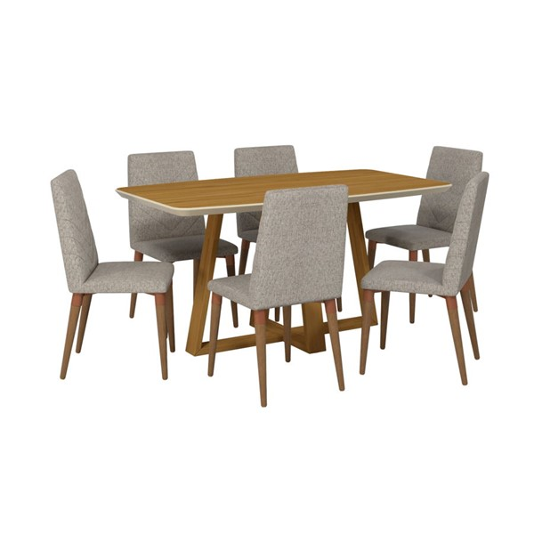 Manhattan Comfort Duffy and Utopia Grey MDF 7pc Rectangle Dining Room Set MHC-2-1018451109253