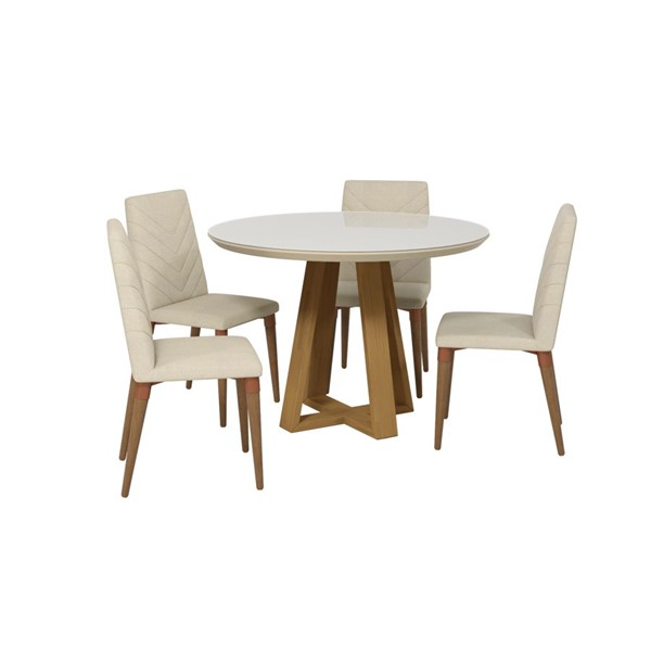 Manhattan Comfort Duffy and Utopia MDF 5pc Round Dining Room Sets MHC-2-10185511092-DR-S-VAR