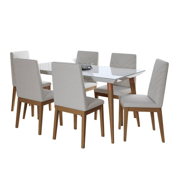 Manhattan Comfort Utopia Catherine 62.99 Inch 7pc Dining Sets MHC-2-10745110905-DR-S-VAR