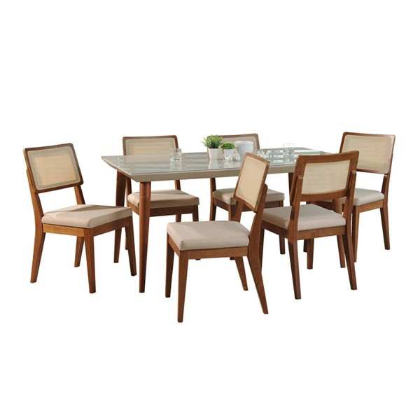 Manhattan Comfort Utopia Pell Off White 70.86 Inch 7pc Dining Set MHC-2-1075521011752