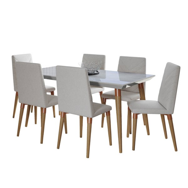 Manhattan Comfort Utopia Marble 62.99 Inch 7pc Dining Sets MHC-2-10885110925-DR-S-VAR