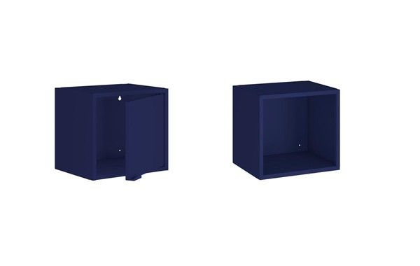 Manhattan Comfort Smart Blue 2pc Floating Cabinet And Display Shelf MHC-2-12GMC4