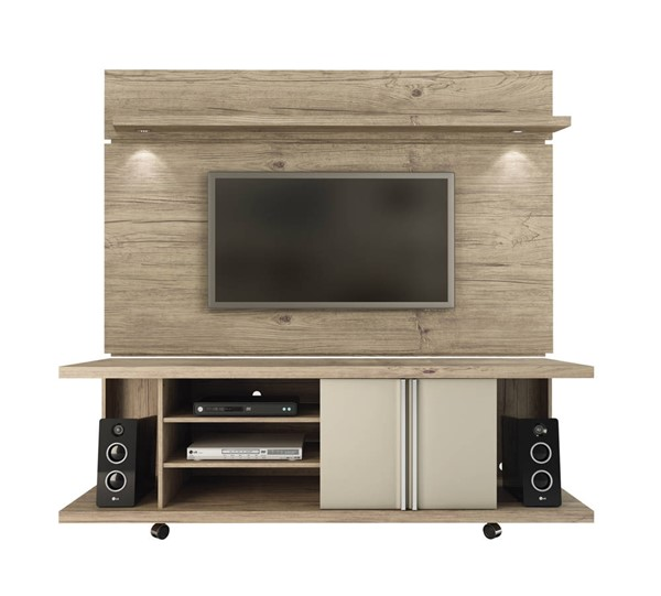 Manhattan Comfort Carnegie Park 1.8 Nature Nude TV Stand And Floating Wall Panel MHC-2-1455581461