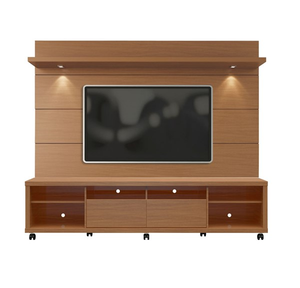 Manhattan Comfort Cabrini Maple Cream TV Stand and Floating Wall TV Panel 2.2 MHC-2-1535482354